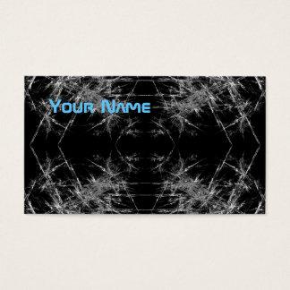 Die Weise herein. Fraktal Art. Monochrome Visitenkarte