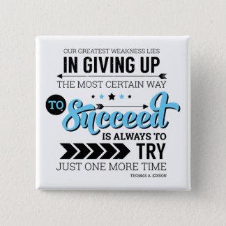Die Weise, Typografie-motivierend Zitat zu folgen Quadratischer Button 5,1 Cm