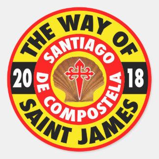 Die Weise von St James 2018 Runder Aufkleber