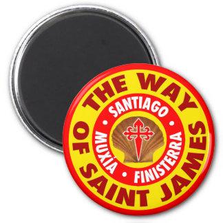 Die Weise von St James Runder Magnet 5,7 Cm