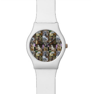 Die weißen Meerkat Foto-Collagen-Damen können Armbanduhr