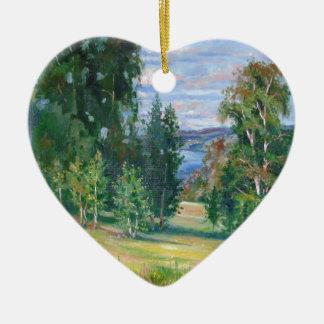 Die Weite der Natur Keramik Herz-Ornament