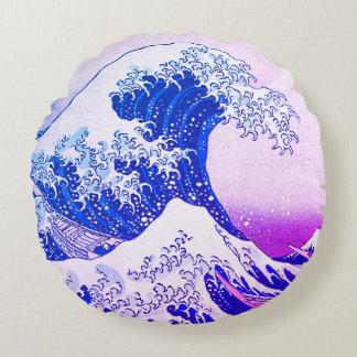 Die Welle Rundes Kissen