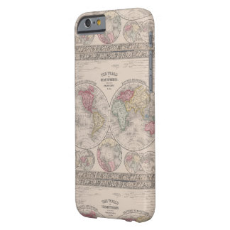 Die Welt 1860 - Ost- u. Westernhemisphären Barely There iPhone 6 Hülle