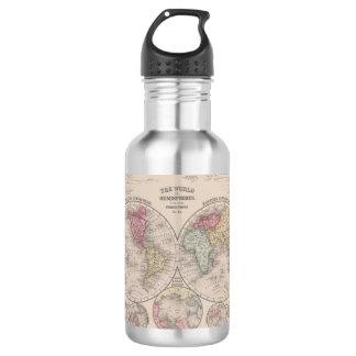 Die Welt 1860 - Ost- u. Westernhemisphären Edelstahlflasche