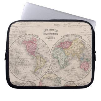 Die Welt 1860 - Ost- u. Westernhemisphären Laptopschutzhülle