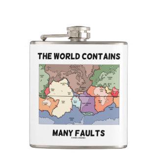 Die Welt enthält viele Störungs-Plattentektonik Flachmann