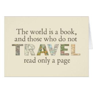 Die Welt ist ein Buch Karte