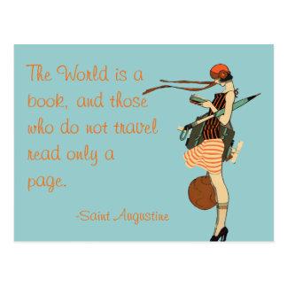 Die Welt ist ein Buch Postkarten