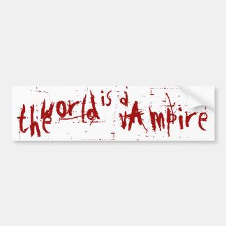 die Welt ist ein Vampir Autoaufkleber