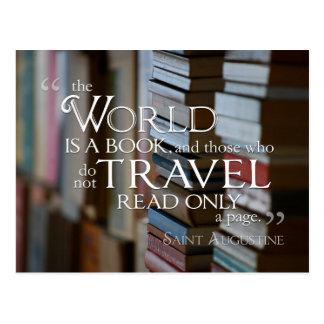 Die Welt ist eine Buch POSTKARTE