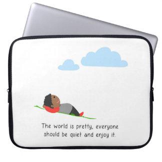 Die Welt ist hübsch Laptop Sleeve