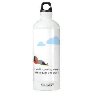 Die Welt ist hübsch Wasserflaschen