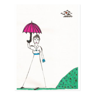 Die Welt Jane austens Postkarte