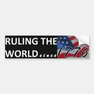 Die Welt seit 1776 anordnen Autoaufkleber