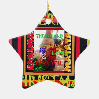 Die Welt um mich ist glücklich, Sie zu haben färbt Keramik Stern-Ornament
