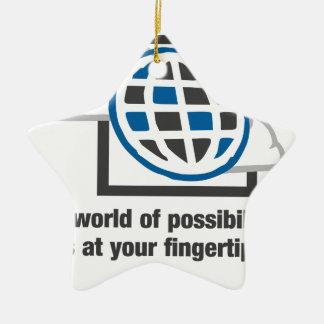Die Welt von Möglichkeiten ist an Ihren Keramik Stern-Ornament