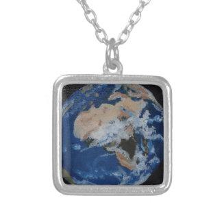 Die Welt von oben Halskette Mit Quadratischem Anhänger