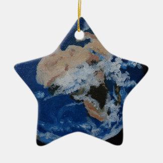 Die Welt von oben Keramik Stern-Ornament