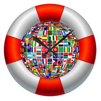Die Weltflüsse Große Wanduhr