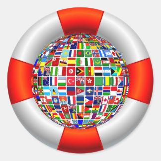 Die Weltflüsse Runder Aufkleber