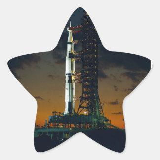 Die Weltraumrakete Saturns V NASA Stern-Aufkleber