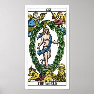 Die WeltTarot-Karte Poster