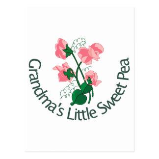 Die wenige süße Erbse der Großmutter Postkarte