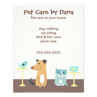 Die Werbung des Haustier-Modells Flyer