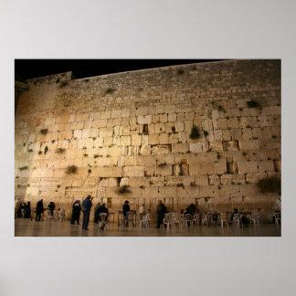 Die Western-Wand Jerusalem Plakatdruck