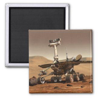 Die Wiedergabe des Künstlers des Mars-Vagabunden Quadratischer Magnet