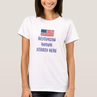 DIE WIEDERHERSTELLUNG VON VON EHRE BEGINNT HIER T-Shirt
