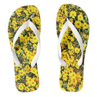 Die wilde Blume der Frauen drehen Reinfälle um Flip Flops