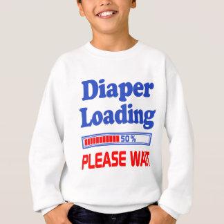 die Windel, die bitte lädt, warten Sweatshirt