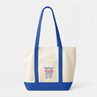 Die Windel-Tasche des blauen Elefant-Babys Tragetasche
