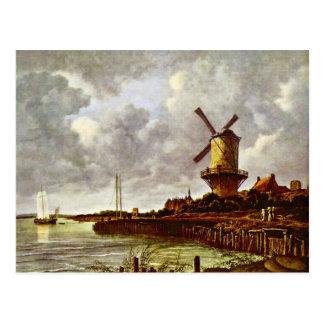 Die Windmühle bei Wijk Bij Duurstede [1]. Durch Postkarte