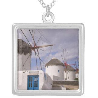 Die Windmühlen von Mykonos auf den griechischen Versilberte Kette