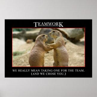 Die wirkliche Bedeutung von Teamwork (S) Posterdrucke
