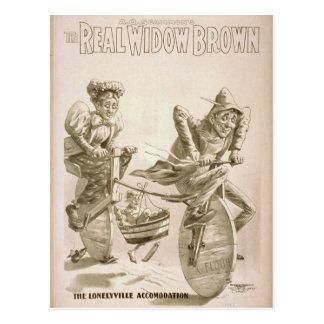 Die wirkliche Witwe Brown Postkarte
