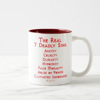 Die WIRKLICHEN 7 tödlichen Sünden Kaffeetassen