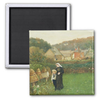 Die Witwe, 1895 (Öl auf Leinwand) Quadratischer Magnet