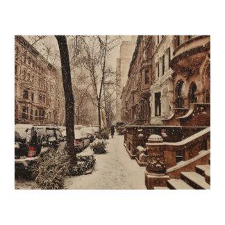 Die Woche nach Weihnachten auf Upper West Side Holzdruck
