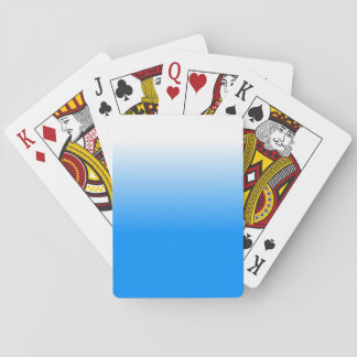 Die Wohngestaltung Trendy blaues Ombre der Frauen Spielkarten
