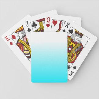 Die Wohngestaltung-Trendy cooles Aqua-Blau Ombre Spielkarten