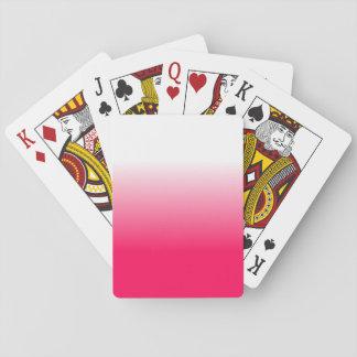 Die Wohngestaltung Trendy rosa Ombre der Frauen Spielkarten