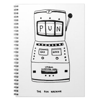 Die Wortspiel-Maschine Notizblock