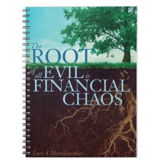 Die Wurzel alles Übels ist Finanzchaos-Zeitschrift Spiral Notizbücher