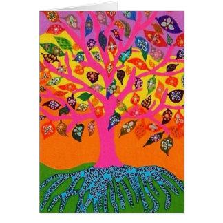 Die Wurzel des Wissens-Baums des Lebens - Grußkarte