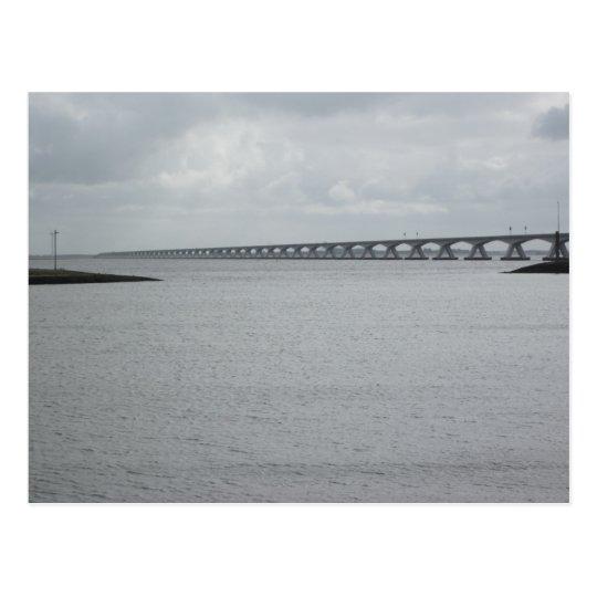 Die Zeeland Brücke Postkarte