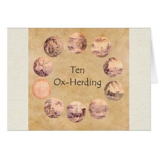 Die zehn Oxherding Bilder Karte